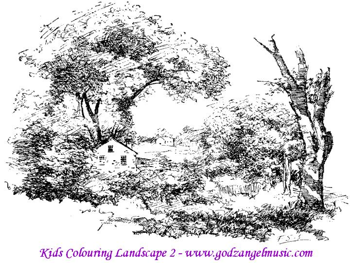 download free coloring pages to print of beautiful nature - Coloring Pages Download Free