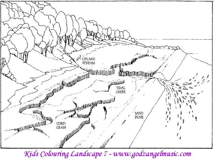 printable flower coloring pages instructions view 1 left mouse click on each link download to computer 1 right click mouse - Printable Scenery Coloring Pages