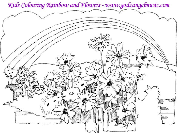 94 Rainbow Flower Coloring Pages
